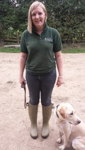 Milly Wastie in Wellies
